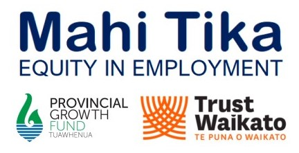 Mahi Tika, Provincial Growth Fund and Trust Waikato logos